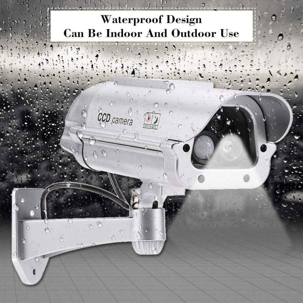 Солнечной энергии муляж системы безопасности камера с фонариком человека сенсор водонепроницаемый поддельные наблюдения моделирование камера