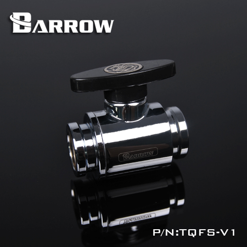 Original BARROW Water Valve Switch Aluminium Handle Double G1/4' Inner Female to Female Switch watercooling computer fittings barrow g1 4 threaded female to female pass through fitting black white silver tcdzs v1