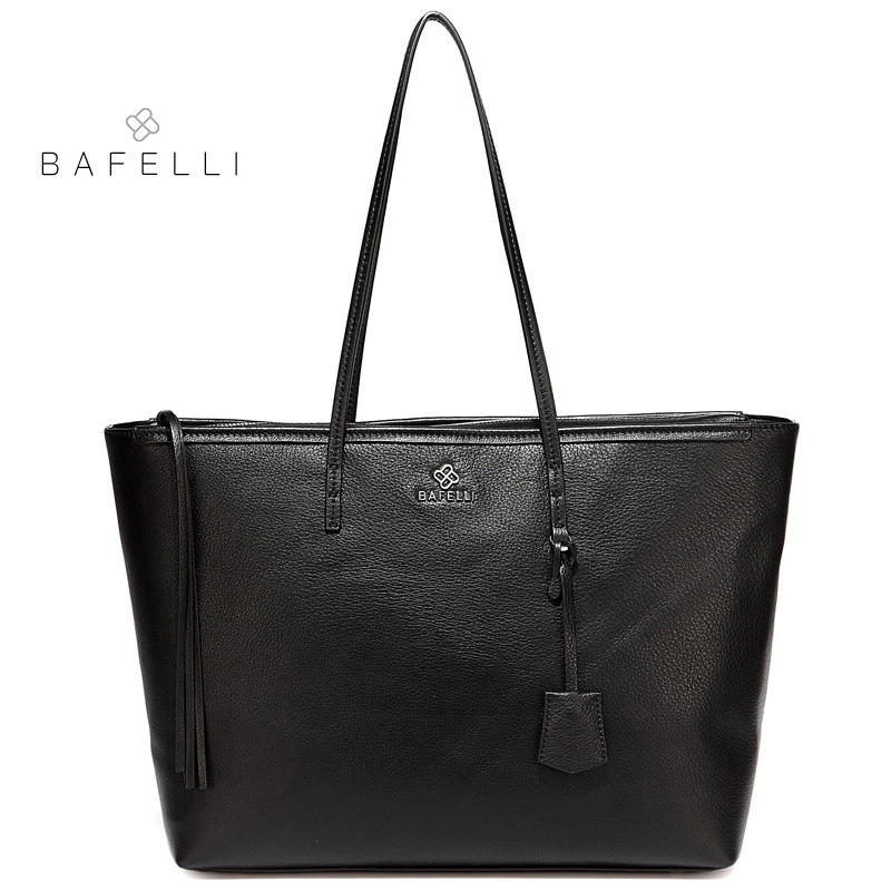 BAFELLI spring newest genuine leather shoulder bag womens work casual versatile tote bolsa feminina women handbags real leather tote bag bolso casual designer handbags high quality 2018 new bolsa feminina shoulder bags womens bag