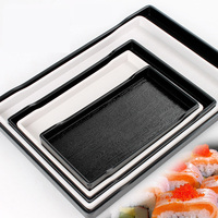 High End Hotel Restaurant Wood Grain Tray European Style Multifunctional Tray Rectangular Tray White Bread Pastry