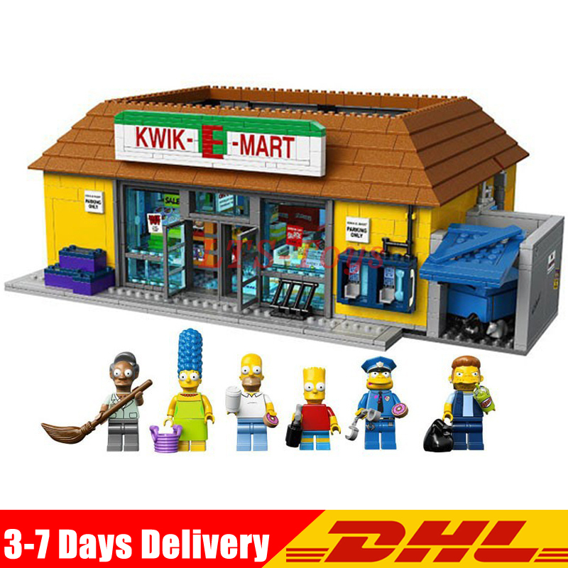 DHL LEPIN 16004 2232Pcs The Simpsons KWIK-E-MART Action Model Building Block Bricks Compatible LEGOED 71016 Boy Gift Toys