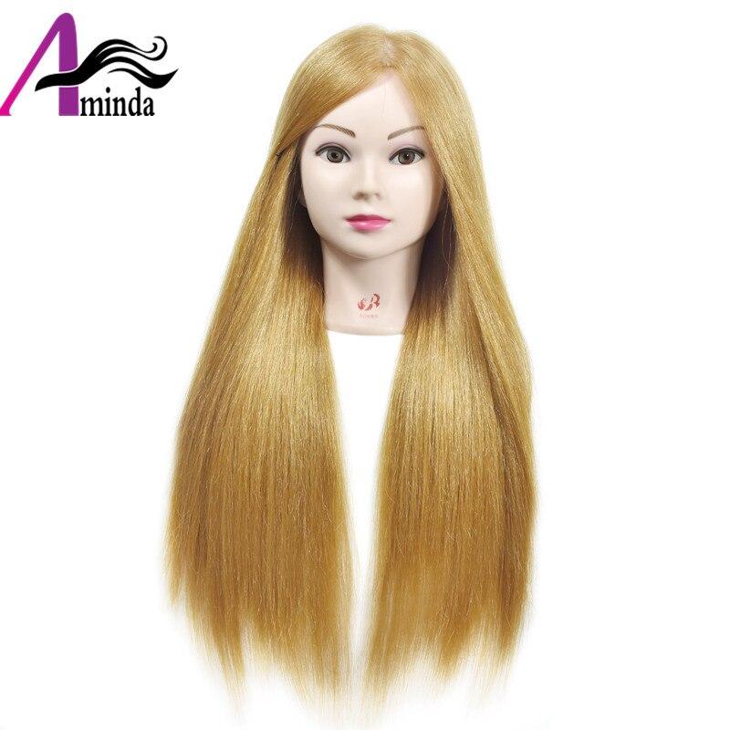 Светлые волосы манекены косметология манекен головы для парикмахерских манекен головы куклы Маник для прически парик голова с человечески...