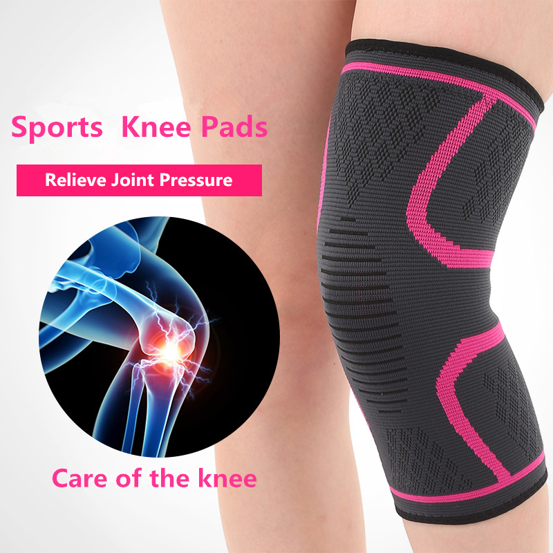 2 PCS/lot Fitness Knee Pad Sleeve for Running Basketball Sports Compression Knee Support rodillera Elastic Nylon Knee Protector ...