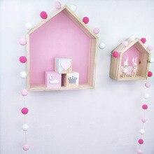 1 шт Сделай Сам 2,5 м Макарон помпон цветной шар для волос Декор баннер Детская комната украшения бамперы для постельных принадлежностей детей