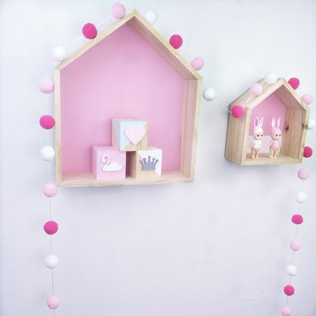 1 pcs DIY 2.5 M Macaron Pompom צבע שיער כדור דקור באנר בייבי חדר קישוט מצעים פגושים ילדים