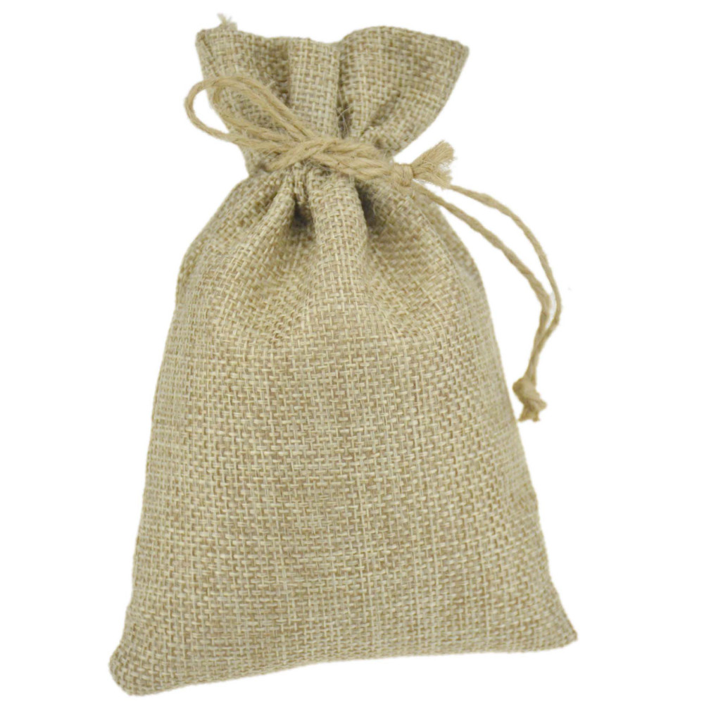 Hot Sale High quality jute burlap Christmas gift bags pouches with ...
