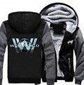 USA size Men Women Westworld Jacket Sweatshirts Thicken Hoodie Coat Winter Fleece Unisex
