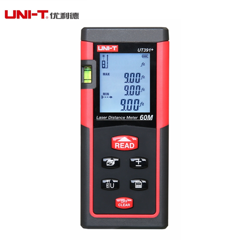 UNI-T UT391+ Laser Rangefinders 60M M/in/ft 620-680nm Data Storage City Planning Water Project Monitoring Automatic Calibration programme planning in extension