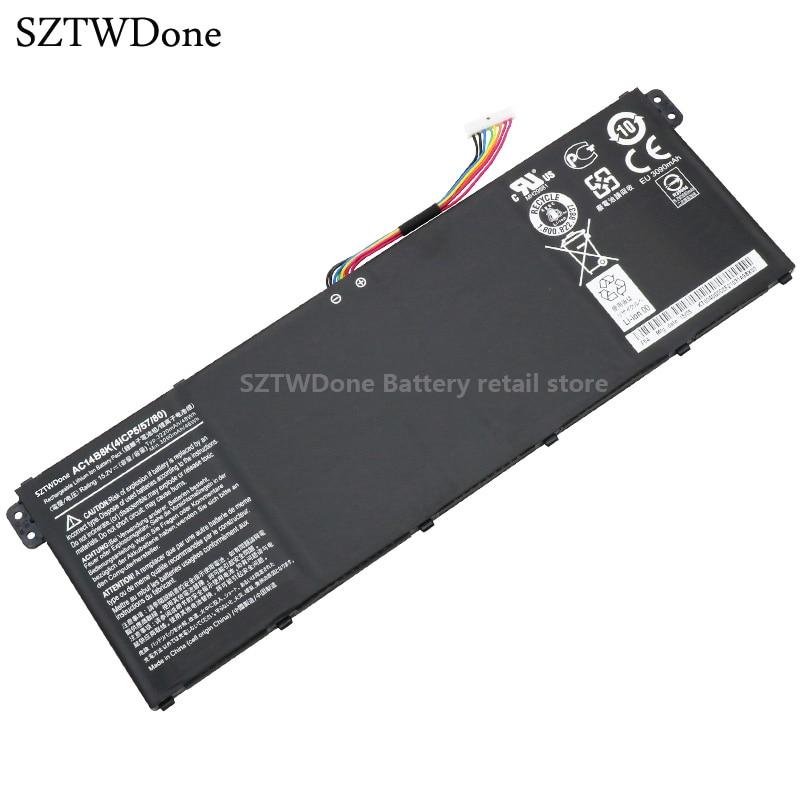 SZTWDONE Original AC14B8K Laptop Battery for ACER Aspire V3-111P CB3-111 CB5-311 B115P NE512 V3-371 V3-111 ES1-711 V3-371-52PK original new al12b32 laptop battery for acer aspire one 725 756 v5 171 b113 b113m al12x32 al12a31 al12b31 al12b32 2500mah