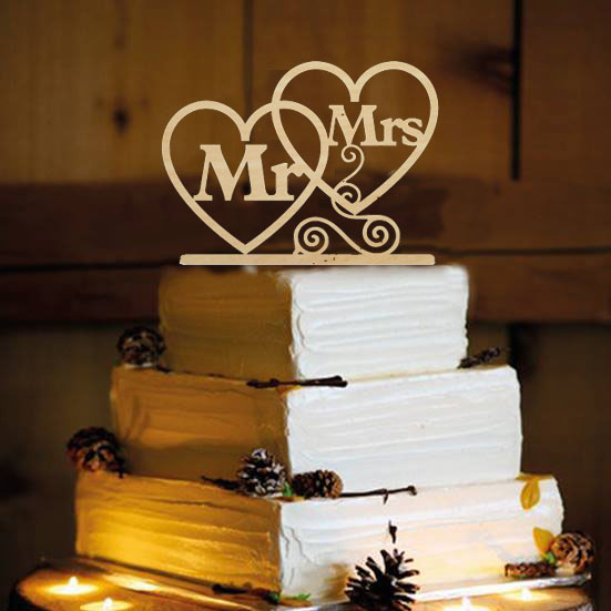 Hochzeitstorte Topper Personalisierte Gold Mr Mrs Holz Kuchen