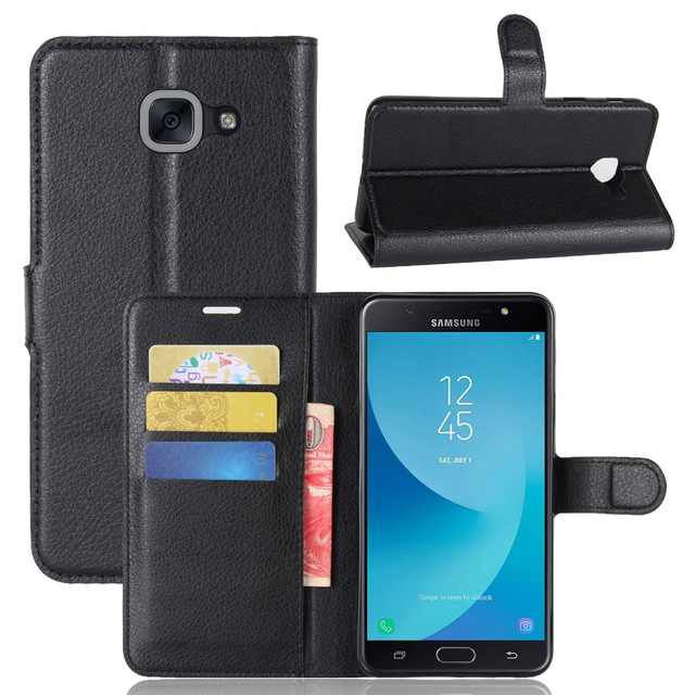 b668003fb04 Fashion Wallet PU Leather Case Cover For Samsung Galaxy J7 MAX SM-G615F  Flip Protective Phone Back Shell Visa Card Slot