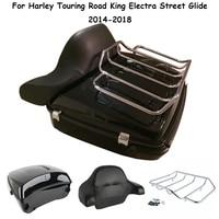 For Harley Touring Road King Street Glide Motorcycle Bag Top case Pak pack Luggage Rack Backrest FLHR FLHX FLTR 2014 2018