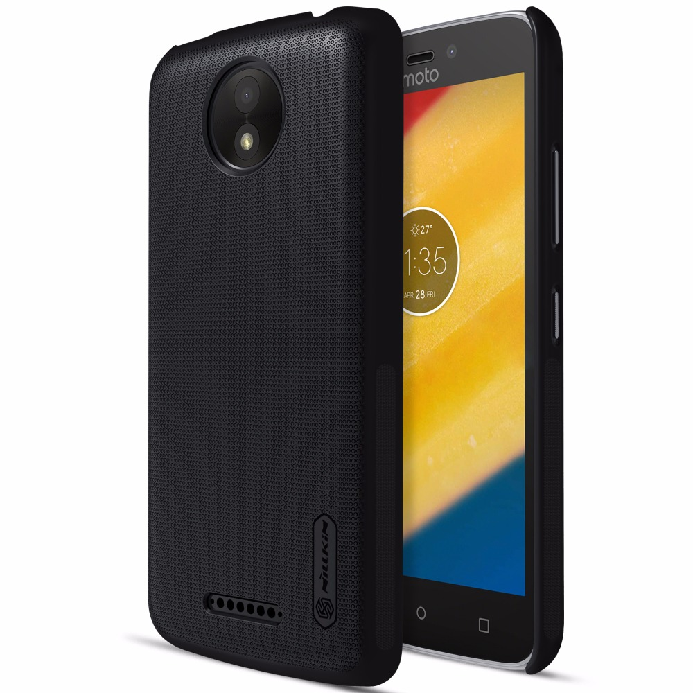 Case For Motorola MOTO C / MOTO C Plus case NILLKIN Super Frosted Shield back cover with free screen protector +Retail package(China)