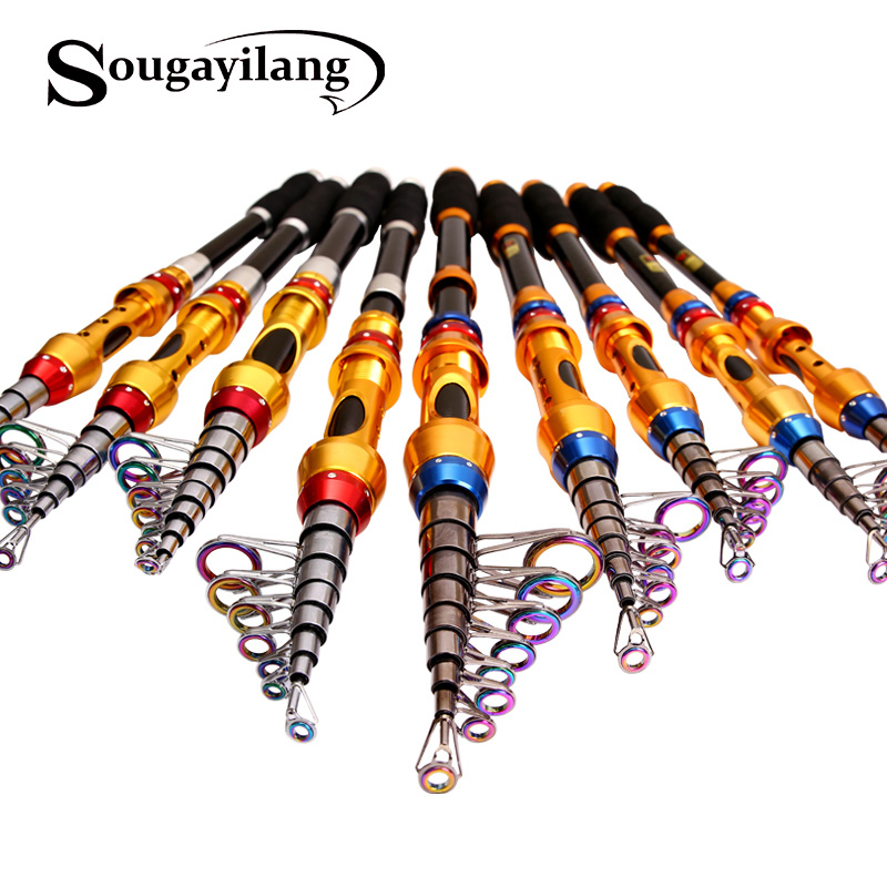 Sougayilang 99% Carbon Portable Telescopic Fishing Rod 1.8-3.6m Spinning Fishing Rod Tackle Sea Rod Fishing Line Lures Bait Hook
