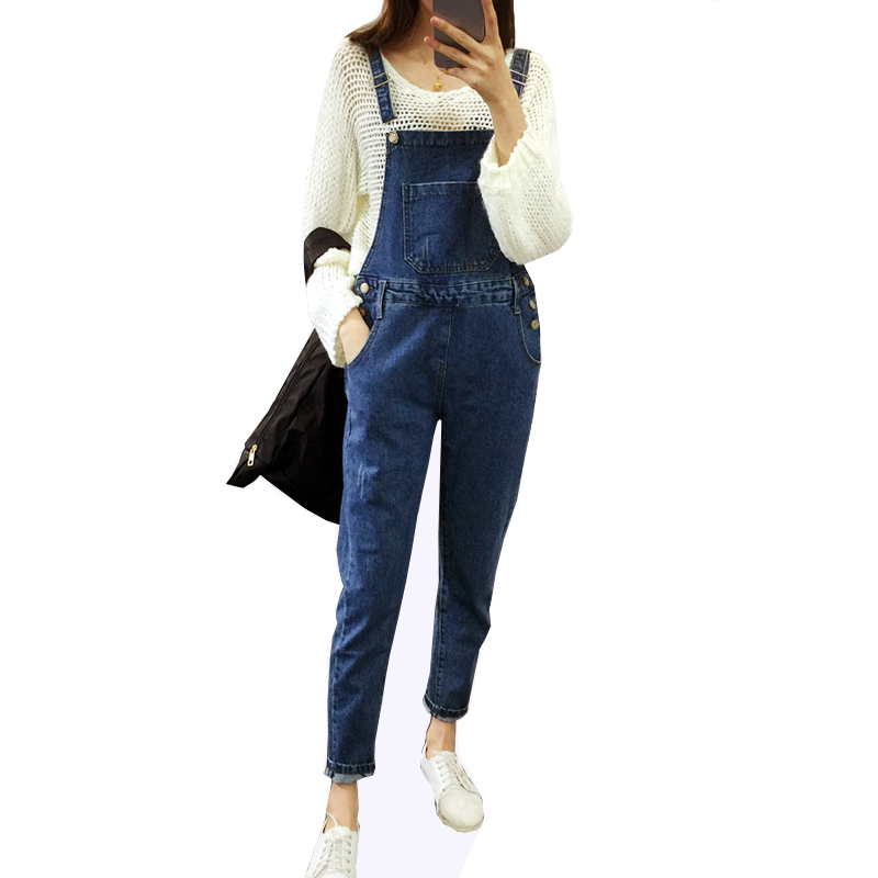 2017 Women Ripped Hole Denim Jumpsuits Ladies Sexy Jeans Jumpsuits