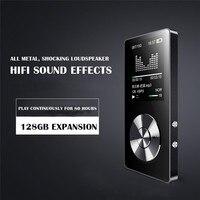 ترف الأسود 8 جيجابايت مشغل mp3 سماعات الموسيقى لاعب lcd عرض طويل مسجل fm مع الفيديو 420 مللي أمبير ايفي المتكلم مصغرة محمولة راديو