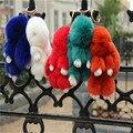 Moda de Piel de Conejo Niños Headwear Sólido Accesorios Del Coche Llavero Llavero Colgante para el Bolso Pequeño Zorro de piel de Conejo Regalo K #03
