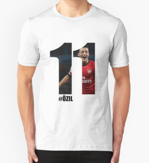 Number Mesut Ozil 11 Germany Superstar Layer Arsenal T Shirt Short Sleeve Customized Birthday