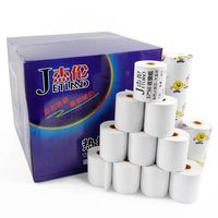 JETLAND Thermal Paper 57x50 mm, 100 Rolls , 3 1/8 x 80' thermal Cash Paper, 13mm Color Core, 1 Carton