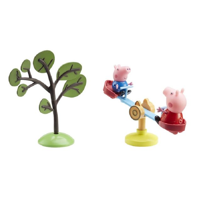 Peppa Pig George Real Scene Model House Pvc Action Figures Family Member Toys Early Learning Educational Toys Gift For Kids