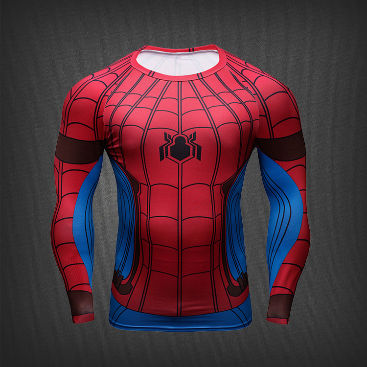 2017 Hot Movie Spiderman Homecoming Peter 3D printed Quick Dry Tights cosplay pullover & t-shirt New Hot sale free shipping