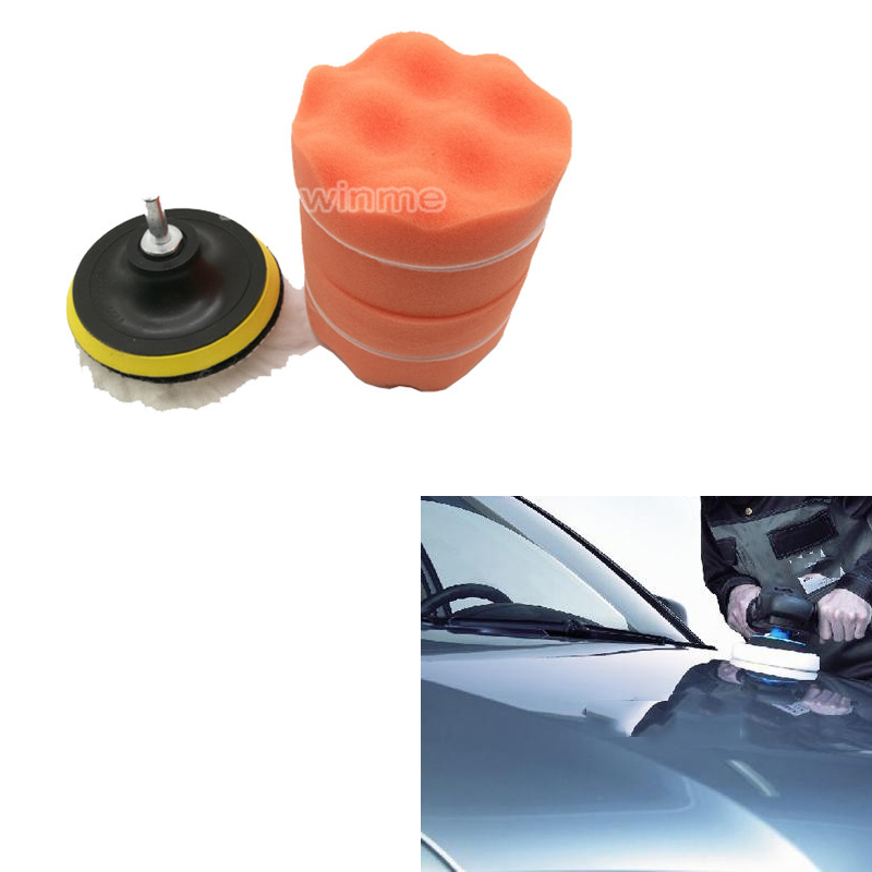 5 polegada car polimento sponge pad kit 7 pcs set