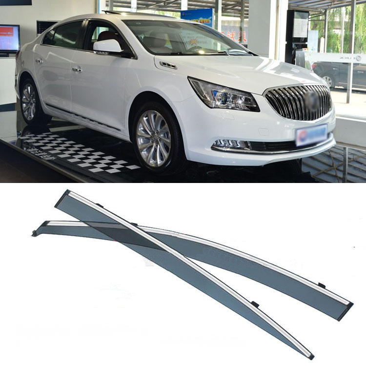 4pcs Blade Side Windows Deflectors Door Sun Visor Shield For Buick LaCross 2009-2013 4pcs blade side windows deflectors door sun visor shield for toyota verso ez 2011 2014