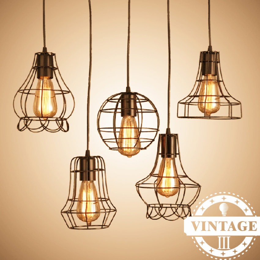 Lateset Iron Hanging Light Loft Iron Pendant Light Vintage Industrial Lighting Bar Cafe Bedroom Restaurant Nordic Country Style new loft vintage iron pendant light industrial lighting glass guard design bar cafe restaurant cage pendant lamp hanging lights