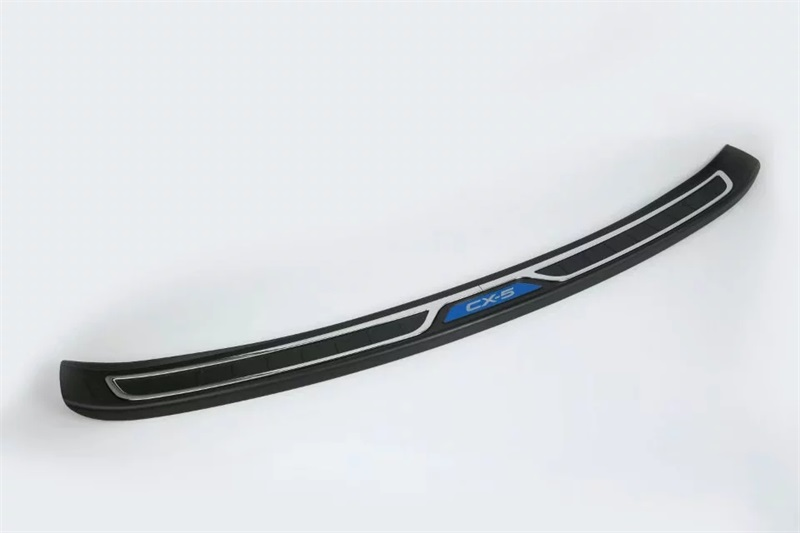 Plastic Rear Outer Bumper Protector Trim Door Sill ScuffF Cover Plate <font><b>Accessories</b></font> For <font><b>Mazda</b></font> <font><b>CX</b></font>-<font><b>5</b></font> CX5 <font><b>2017</b></font> <font><b>2018</b></font> 2019 Car Styling image