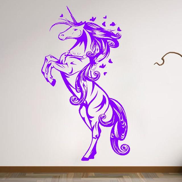 Zn G009 Unicornio Vinilo Adhesivos De Pared Decoracion De La