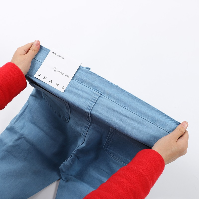 18 New Fashion Jeans Women Pencil Pants High Waist Jeans Sexy Slim Elastic Skinny Pants Trousers Fit Lady Jeans Plus Size 55
