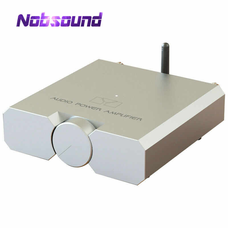 Nobsound Hi-end Bluetooth 5.0 כוח מגבר HiFi סטריאו אוזניות Amp עם USB כרטיס קול 100W * 2