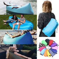 Fast Inflatable Hangout Air Sleep Hiking Camping Bed Beach Sofa Lounge Banana Sleeping Bags Banana Lazy