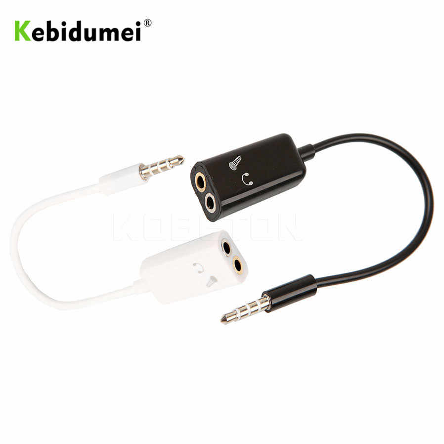 medium resolution of  kebidumei 3 5mm stereo splitter audio male to earphone headset microphone adapter couples turn wiring