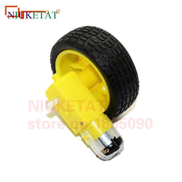 TT Motor 130motor with the wheel Smart Car Robot Gear Motor for Arduino DC3V-6V DC Gear Motor 1pcs TT motor+1pcs 65mm wheel