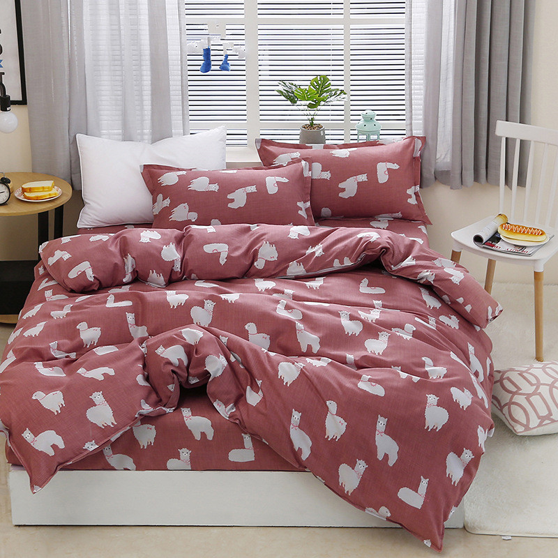 Black rose bedding set Rose Heart duvet cover 3 or 4pcs/set Summer bed set white bedclothes Flora flat sheet daisy kid bedlinen