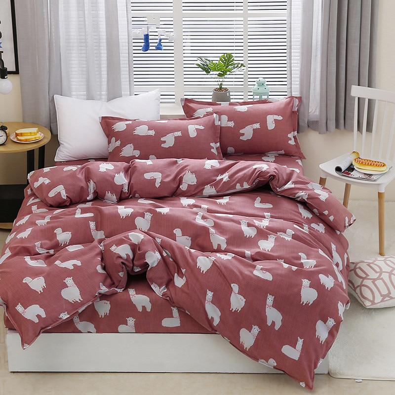 Black rose set di biancheria da letto Rosa Cuore copripiumino 3 o 4 pz/set di Estate letto set bianco biancheria da letto Flora lamiera piana margherita del capretto biancheria da letto