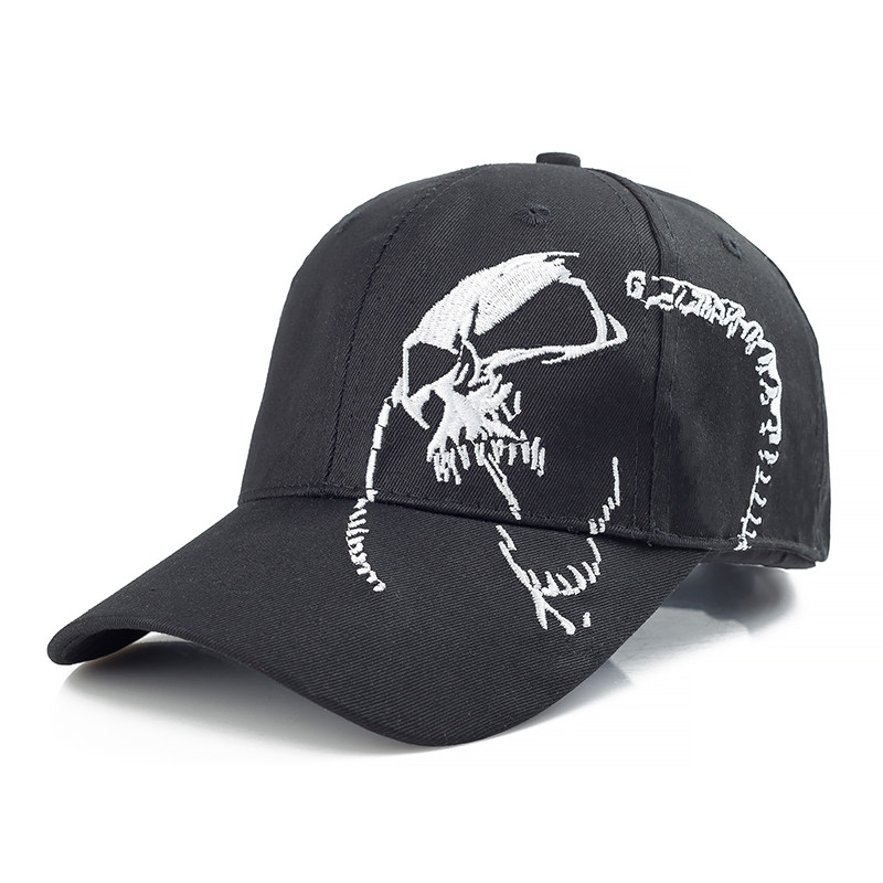 High Quality Skull Embroidery Fashion Cap 100% Cotton Baseball Cap Outdoor Hip Hop Dad Hat Sports Hat Cap For Men Women fashion sports baseball cap men