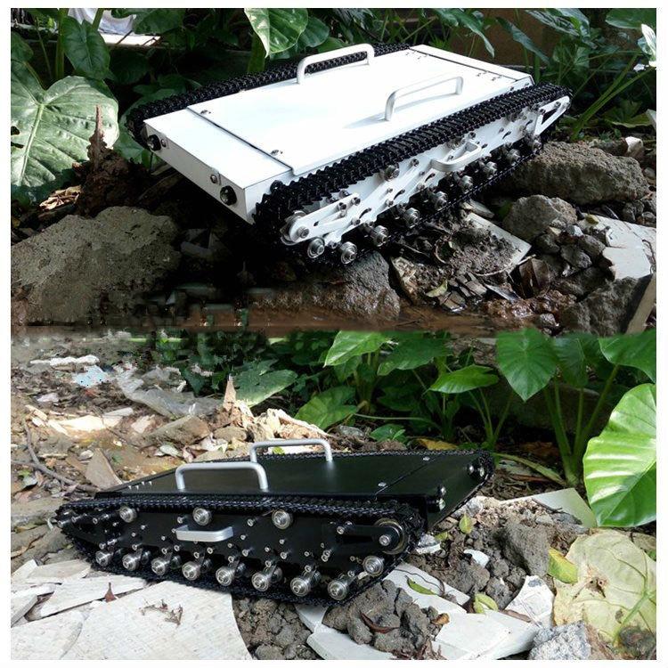 все цены на WT-500 Black Caterpillar Intelligent Car Remote Control Tank Chassis Unassemble kits онлайн