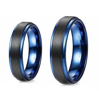 6MM 8MM Blue Tungsten Wedding