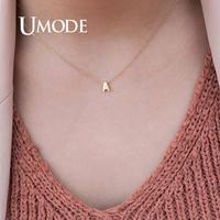 UMODE femmes 26 lettre initiale argent collier ras du cou chaîne collier personnalisé pendentif en or bijoux d'été accessoires UN0373
