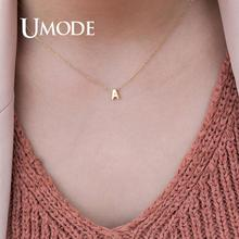 UMODE женское серебряное ожерелье-чокер с 26 буквами, персонализированное золотое ожерелье с подвеской, летние ювелирные аксессуары UN0373