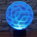 7 que cambia de color Lámpara Cerebro 3D Night Lights LED táctil interruptor Cargador USB Luz Lámparas de Mesa de luces de La Noche de Dormir regalo IY803498