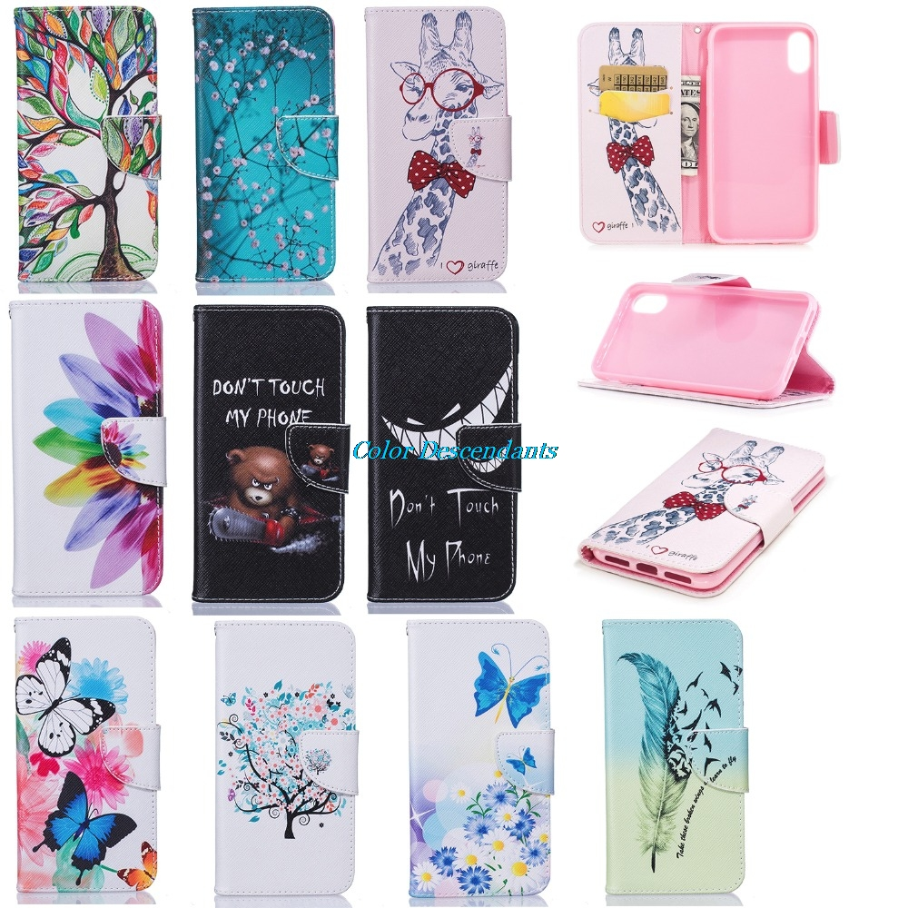 Soft case For iPhone 8 X Cover for iphone 7 7 Plus Phone Cases For iPhone 6 6s Plus pu wallet Capa Coque For iphone 5s 5 Case