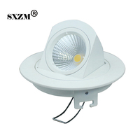 10W COB LED Downlight Aluminum AC85 265V Round Indoor Lighting With Led Driver For Foyer Bedroom