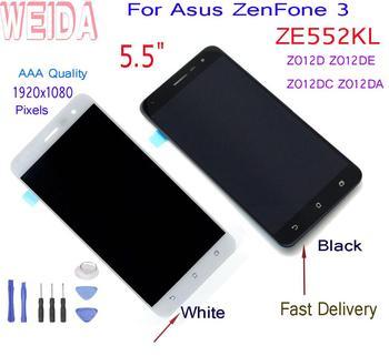 5.5For Asus ZenFone 3 ZE552KL Z012D Z012DE LCD Display Touch Screen Digitizer Assembly +Frame +Tools Z012DC Z012DA LCD weida for asus zenfone 2 laser ze500kl z00ed lcd display touch screen digitizer assembly 5 0 inch with frame tool