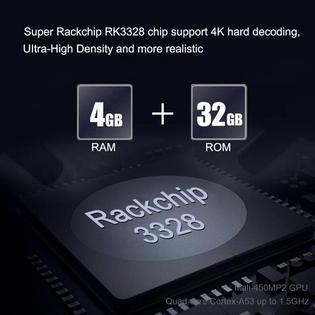 A5X MAX Smart Android 9,0 ТВ коробка 4 K HD tv Box RK3328 Quad-Core Media Player Поддержка 2,4G Wi-Fi Bluetooth 4,0 100 м локальной компьютерной приставки к телевизору 1