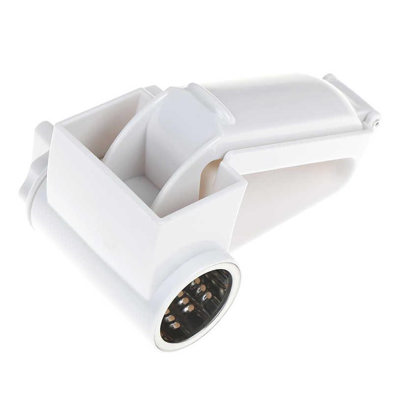 Trancheuse rotative de gingembre de râpe à fromage à manivelle en plastique pour le chocolat avec le coupeur de râpe de tambour d'acier inoxydable
