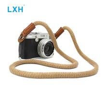 Lxh винтажный холщовый ремешок для Фотоаппарата sony nikon leica