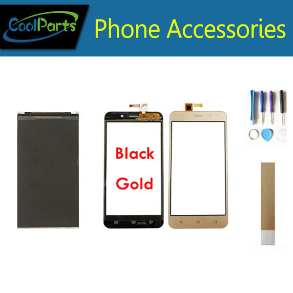 LCD Marking: 15-22211-3259-2 For Vertex Impress Luck LCD Display Screen+Touch Screen Digitizer Black Gold Color With Tape&Tool